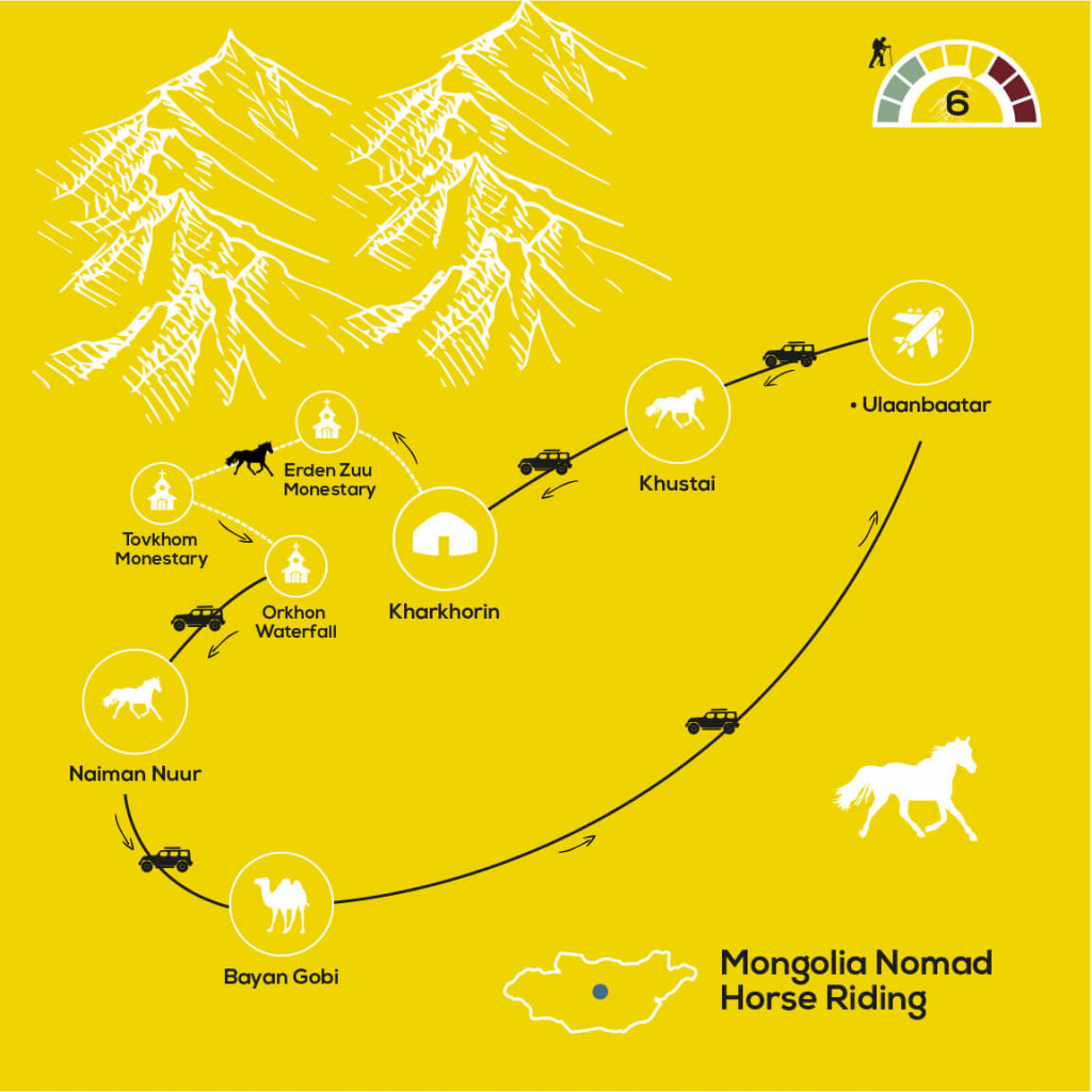 Nomad Horse Riding Adventure, YellowWood Adventures Map