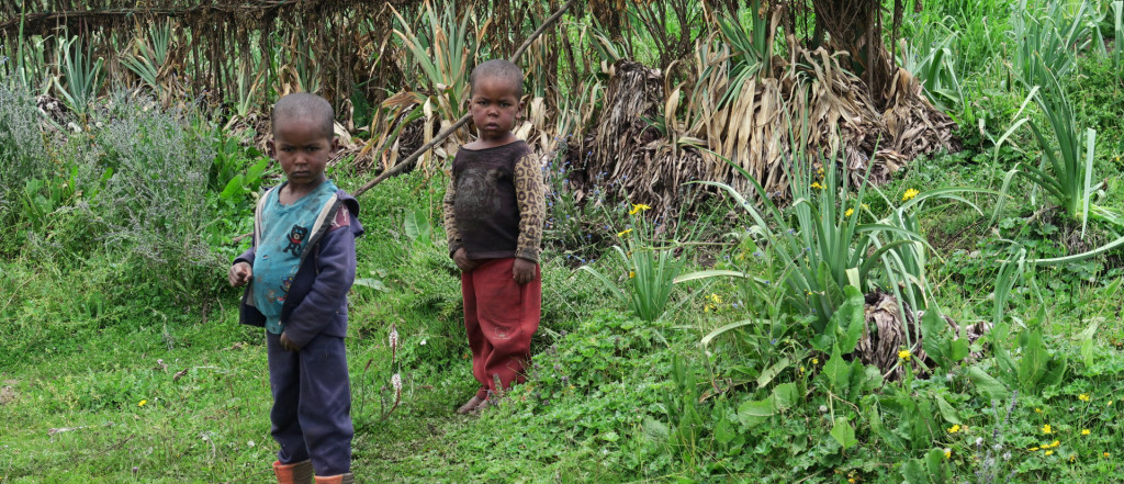 Local children in village, Bale Mountains, Ethiopia