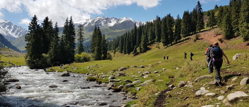 Tian Shan Mountain valley path, Kyrgyzstan