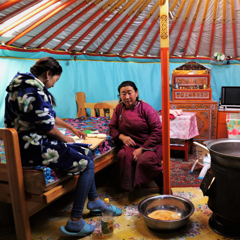 Interior of family Ger, Mongolia