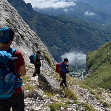 Mountain trails in the Picos de Europa, Spain