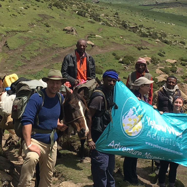 Flying the YellowWood Adventures flag, Wolves of the Bale Mountains