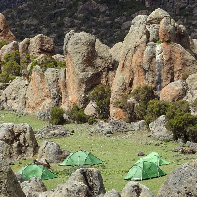 Camping in the Stone Forest, Bale National Park, Ethiopia
