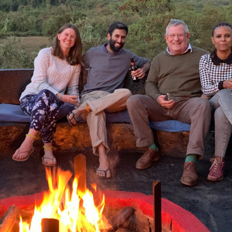 Enjoying an evening at the Bale Mountain Lodge, Ethiopia