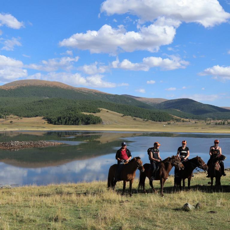 Lakeside Riding, Mongolia
