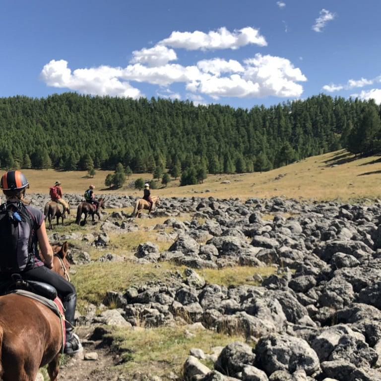 Traversing the Valley on horseback, Mongolia