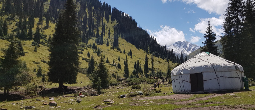 Yurt in Tian Shan Mountains, rural Kyrgyzstan