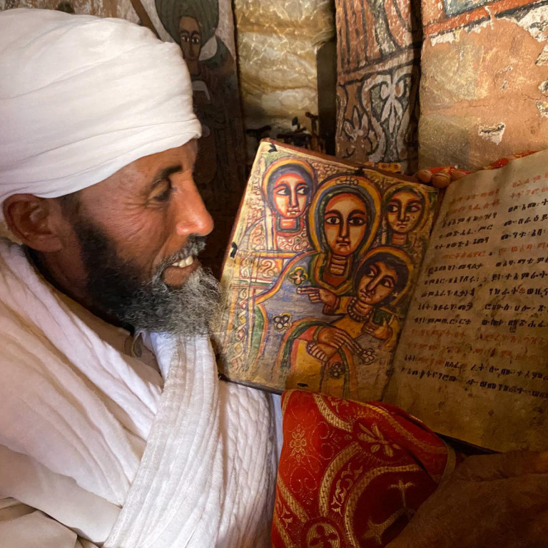 Priest from Rock-hewn Church, Gheralta Mountains, Ethiopia
