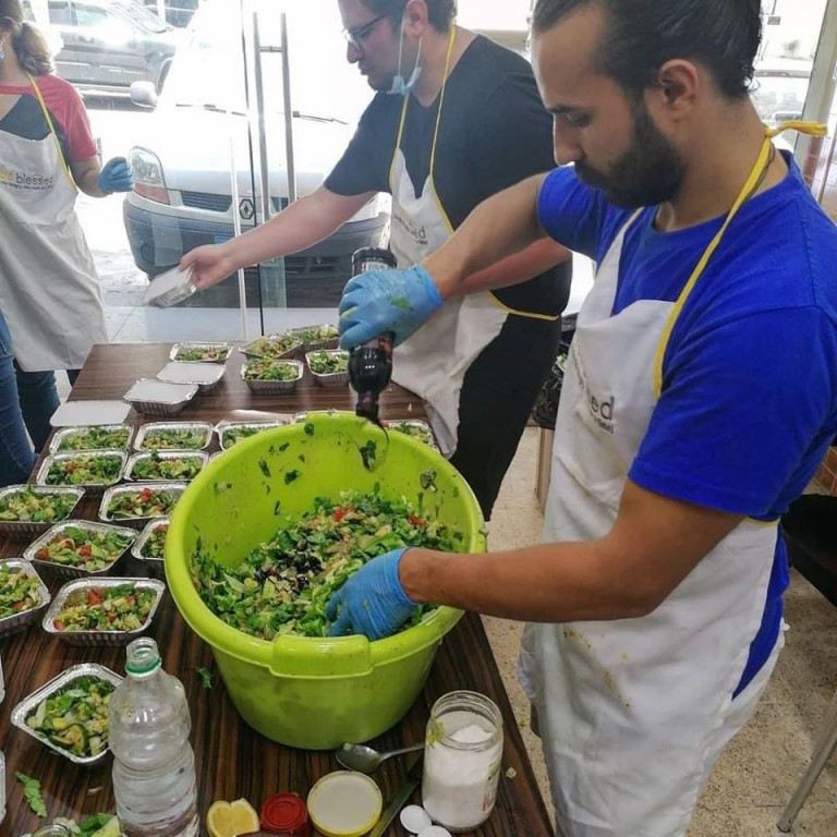 Making meals for Refugees, Food Blessed, Lebanon