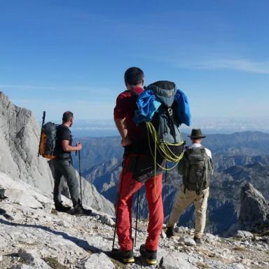 Hiking in the Picos de Europa Mountains, Spain
