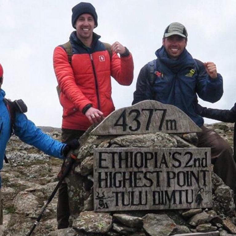 Mount Tuludimtu summit, Wolves of Bale Mountains Adventure, Ethiopia