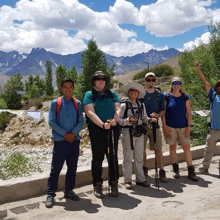 Trekking into Hemis Shukpachen village, Ladakh