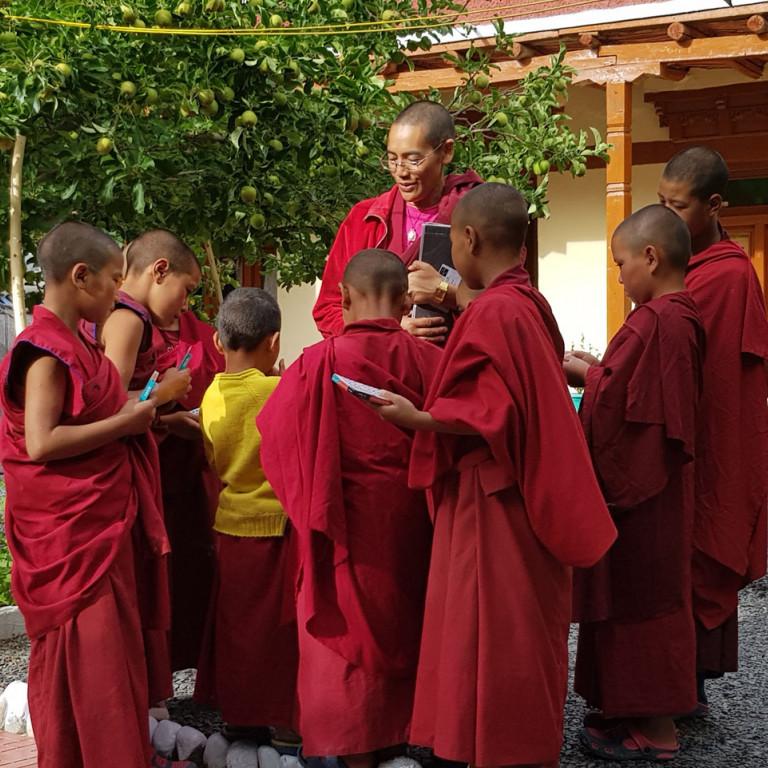Pupils at Tingmosgang school, Ladakh