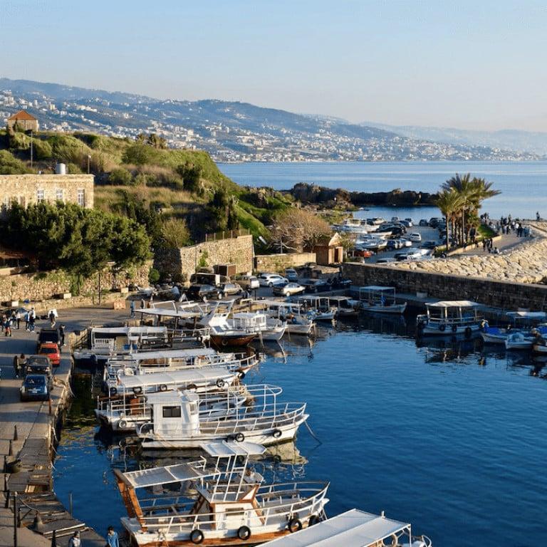 Azure Seas in Tyre, Lebanon