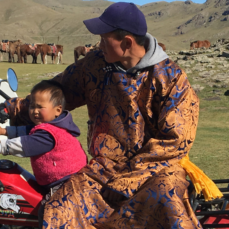 Host Family at Ger Camp, Naiman Nuur, Mongolia