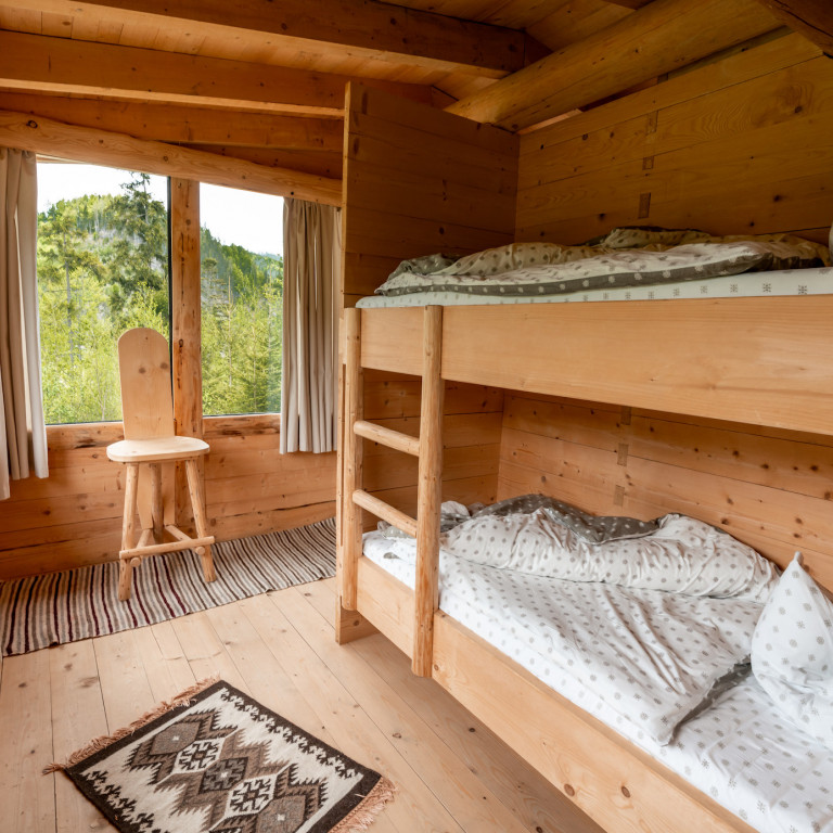 Twin beds-Wilderness Cabin Experience-Romania