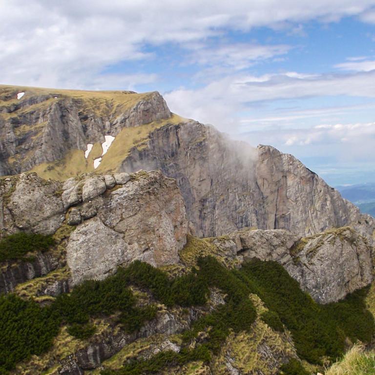 Piatra Craiului Mountain peaks, Romania
