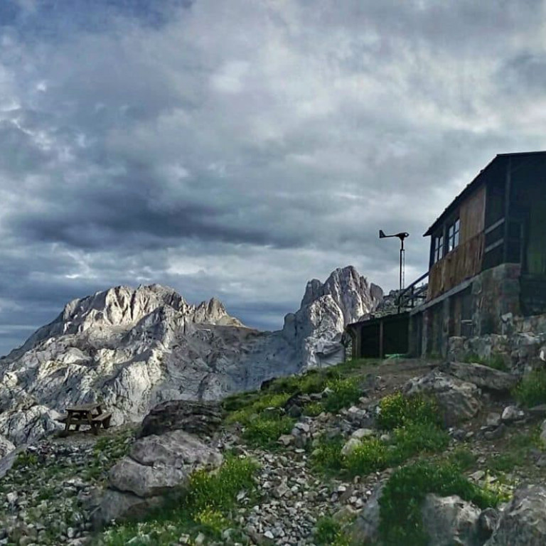 Mountain Refuge in the Picos de Europa, Northern Spain