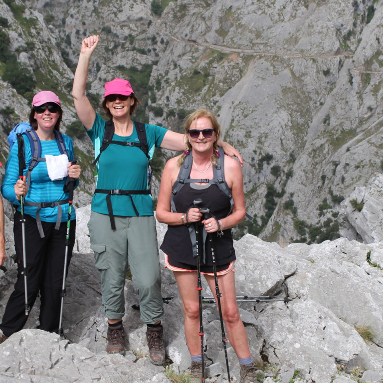 Walkers in the Picos de Europa, Northern Spain